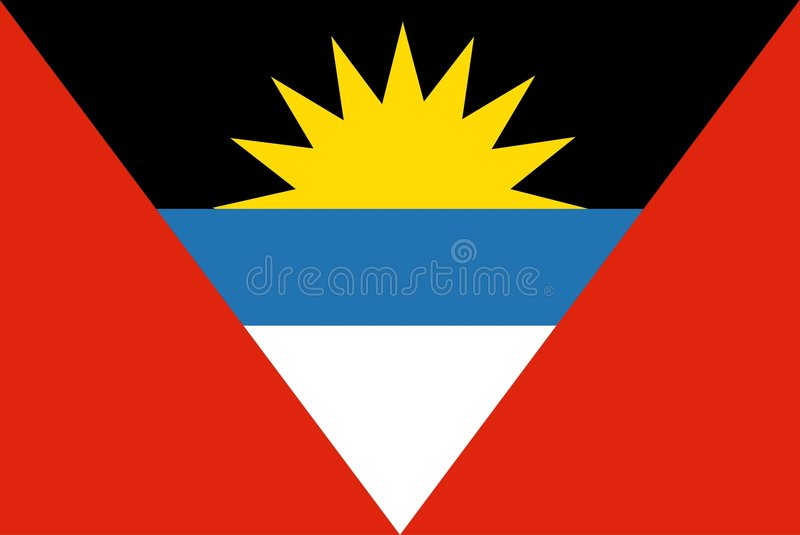 Antigua en Barbuda royalty-vrije illustratie