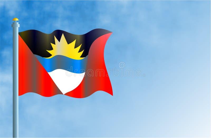 Antigua en Barbuda vector illustratie