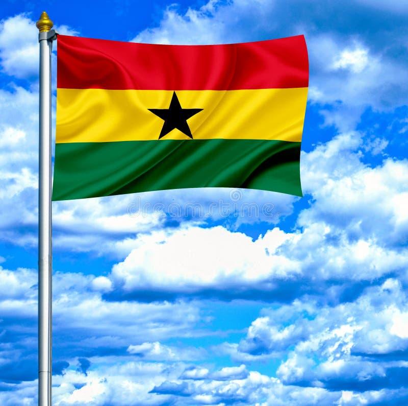 Antigua en de golvende vlag van Barbuda tegen blauwe hemel royalty-vrije stock fotografie