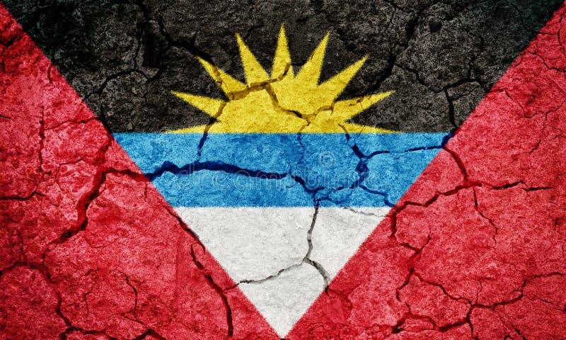 Antigua en de Vlag van Barbuda stock afbeeldingen