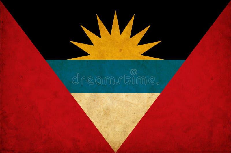 Antigua en de vlag van Barbuda grunge royalty-vrije stock afbeelding