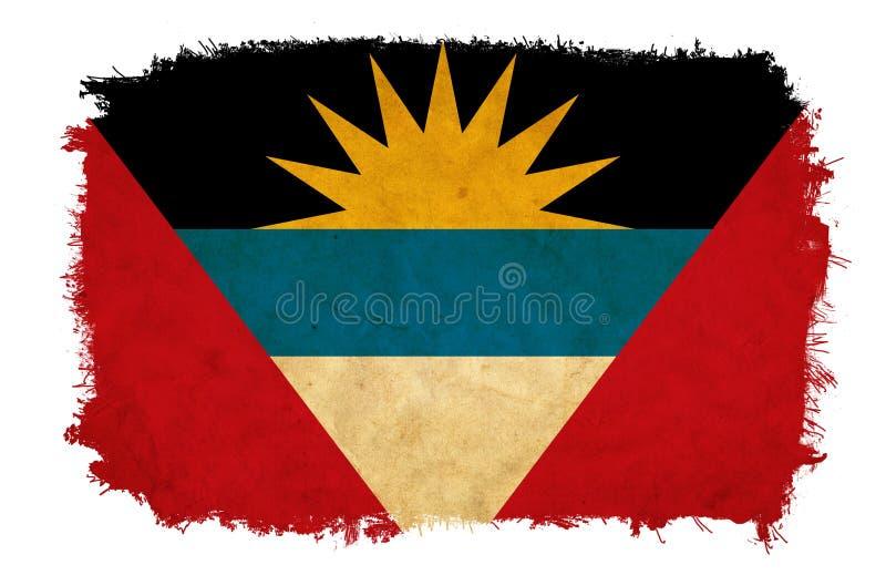 Antigua en de vlag van Barbuda grunge stock foto