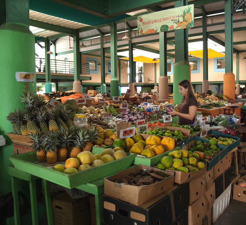 Antigua Farmer's Market stock photography