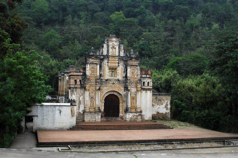 Antigua Guatemala Roadside Church. Antigua Guatemala Church Ruins. Located in the town of Antigua stock photography