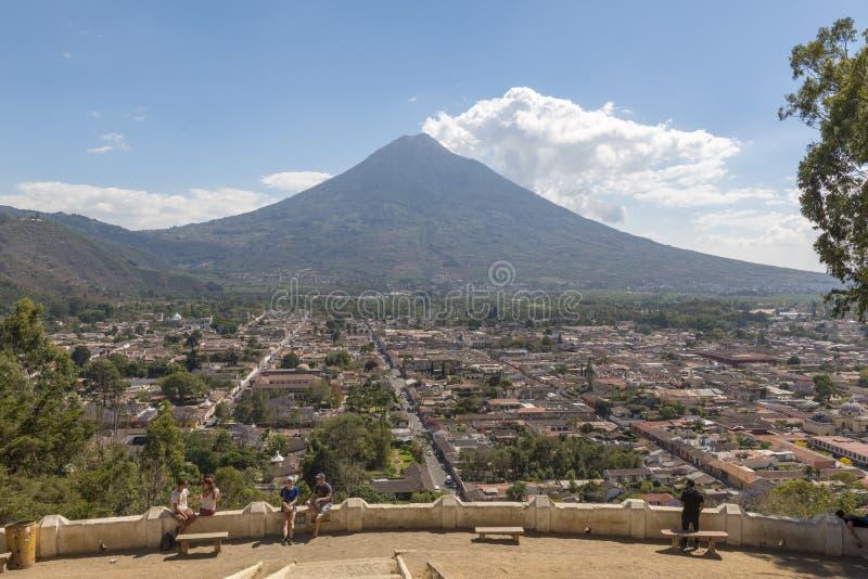 Antigua Gwatemala punkt obserwacyjny obraz royalty free