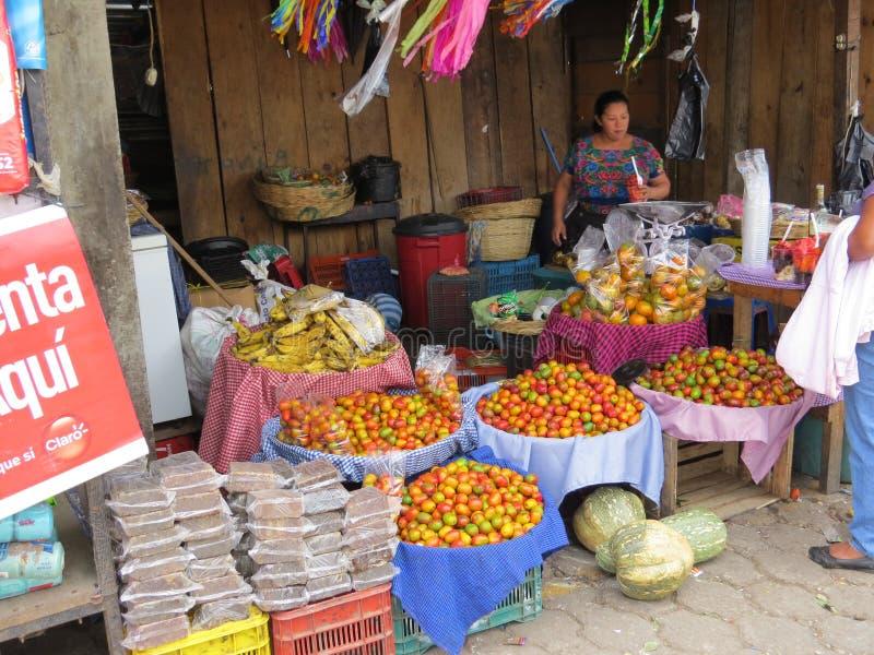 Antigua market stall stock photography