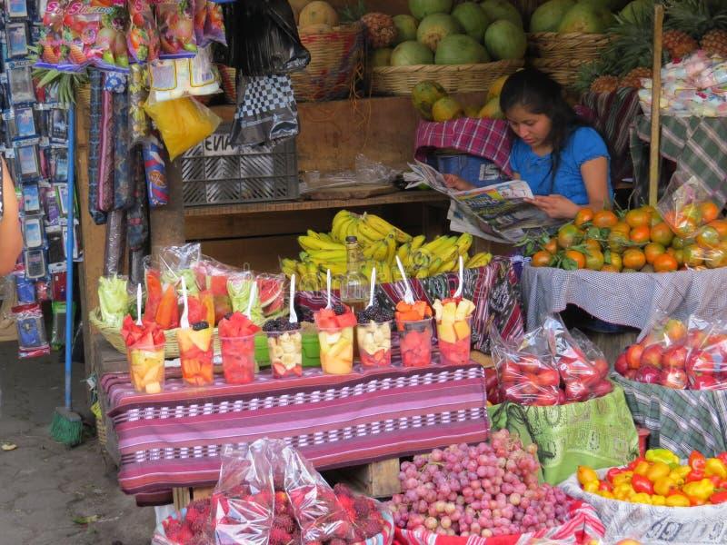 Antigua market stall royalty free stock image