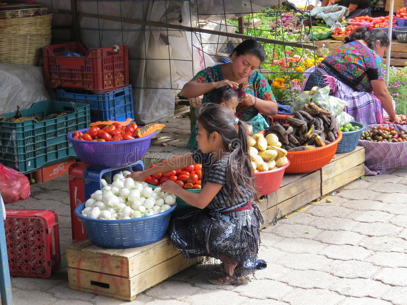 Antigua market stall royalty free stock images