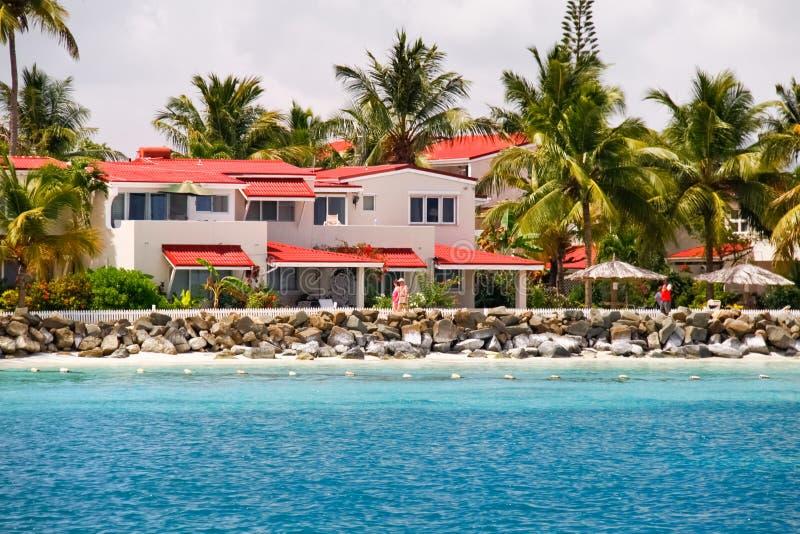 Antigua - Sandelholze Dickenson Schacht-Eigentumswohnungrücksortierung stockfoto
