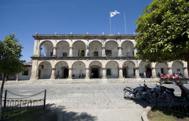 antigua stadsguatemala korridor royaltyfri foto