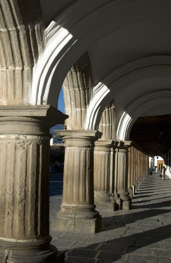 antigua stadsguatemala korridor arkivfoton