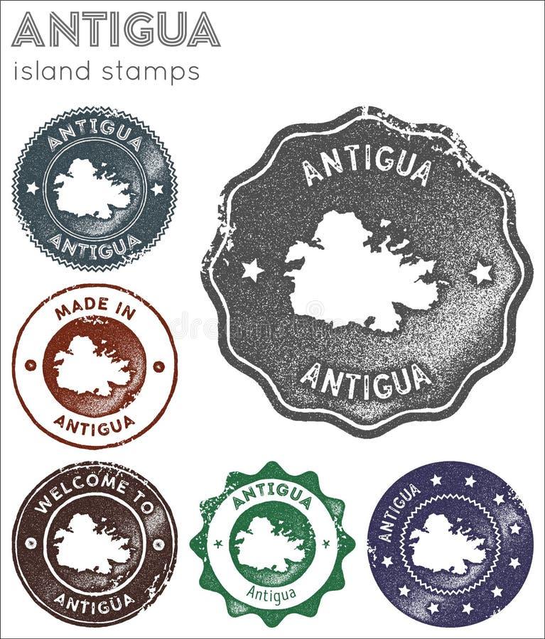 Antigua-Stempelsammlung stockbild