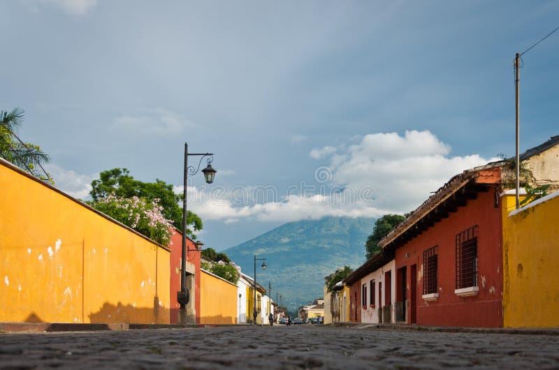 Antigua-Straße lizenzfreie stockbilder