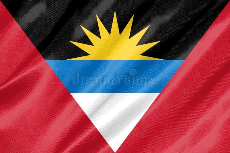Antigua-und Barbuda-Markierungsfahne stock abbildung