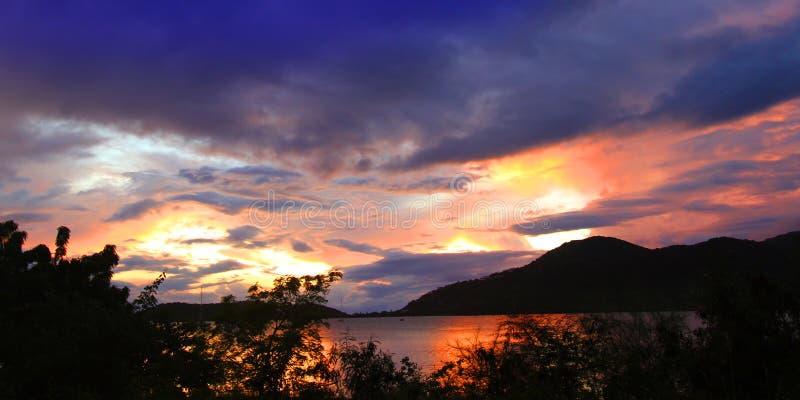 Antigua zmierzchu krajobraz obrazy stock