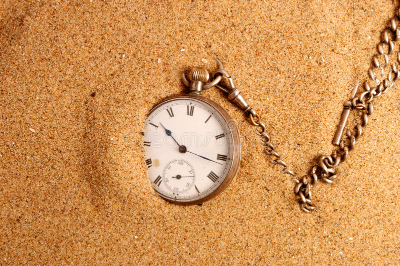 Download Antigue Pocket Watch In Sand Stock Photo - Image: 3569334