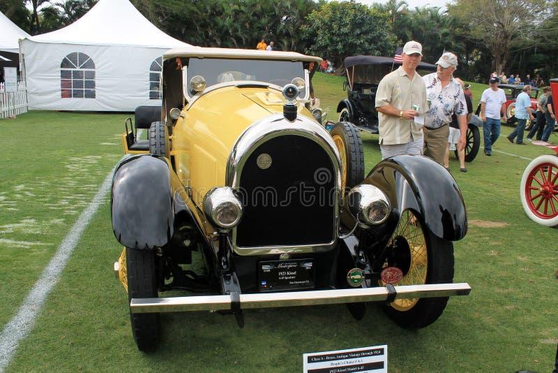 Antiguidade e parte dianteira americana rara do carro imagem de stock royalty free