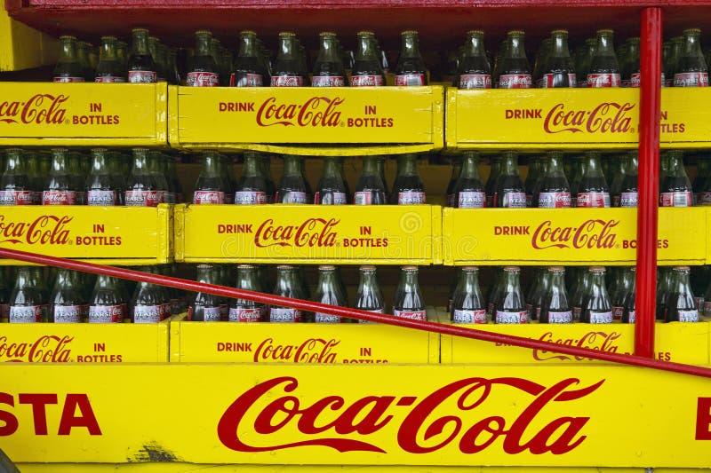 Antiguidade velha do vagão da soda de Coca-Cola em GA central fora da estrada 23 imagens de stock