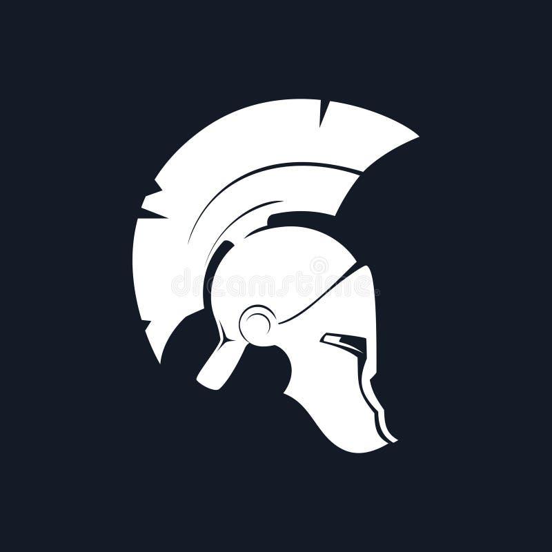 Antiguidades Roman Helmet da silhueta ilustração do vetor