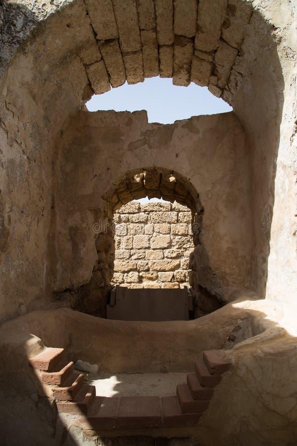 Antiguo baña Cesaria del puerto Israel foto de archivo libre de regalías