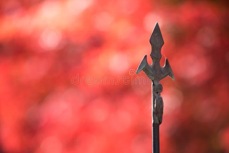 Antiguo de extremidad de la lanza de Japón foto de archivo