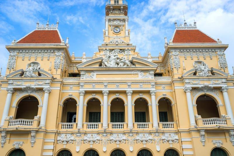 Antiguo del edificio del comité de la gente en Sai Gon imágenes de archivo libres de regalías