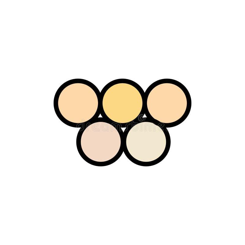 Antiguo, Grecia, griega, icono plano del color de los Juegos Olímpicos Plantilla de la bandera del icono del vector stock de ilustración