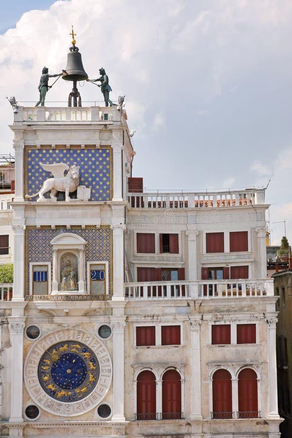 ` Antiguo Orologio del dell de Torre del reloj en San Marco Square, Venecia, Italia imágenes de archivo libres de regalías