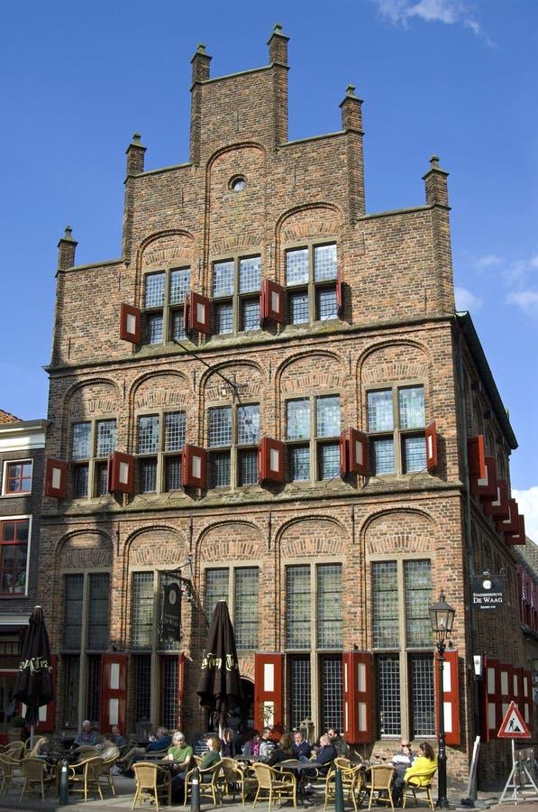 Antiguo pese la casa, ciudad Doesburg, Países Bajos imágenes de archivo libres de regalías