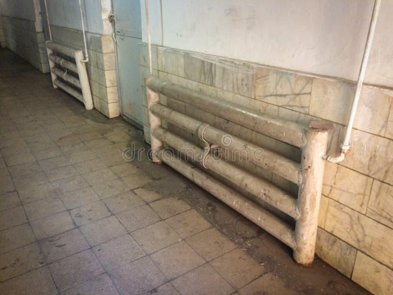 Antiguo sistema de calefacción ruso fotografía de archivo libre de regalías