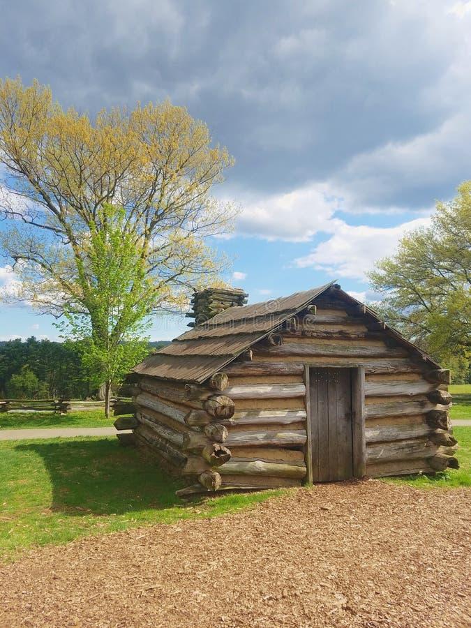 Antiguos cuarteles de soldados en Valley Forge, Pennsylvania foto de archivo libre de regalías