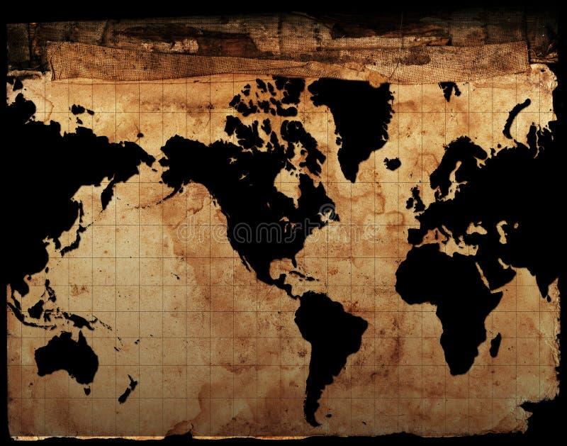 Antik översikt av världen vektor illustrationer
