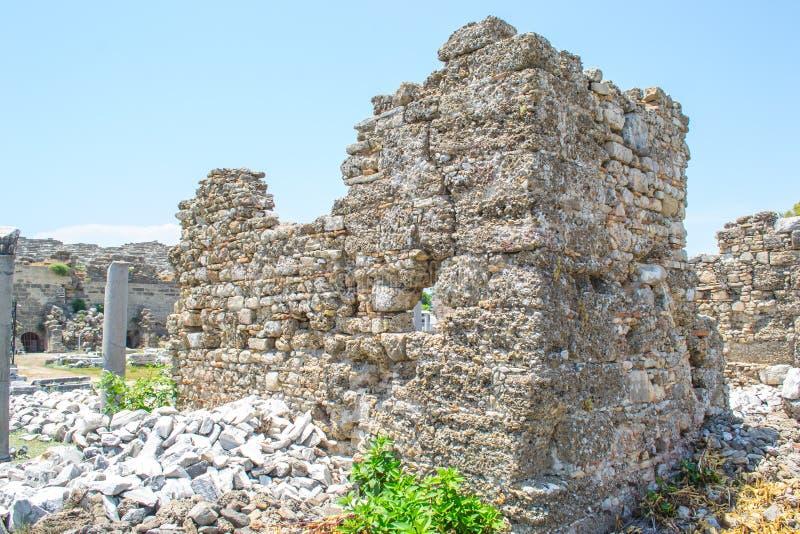 Antik amphitheater kalkon Sidostad royaltyfri foto