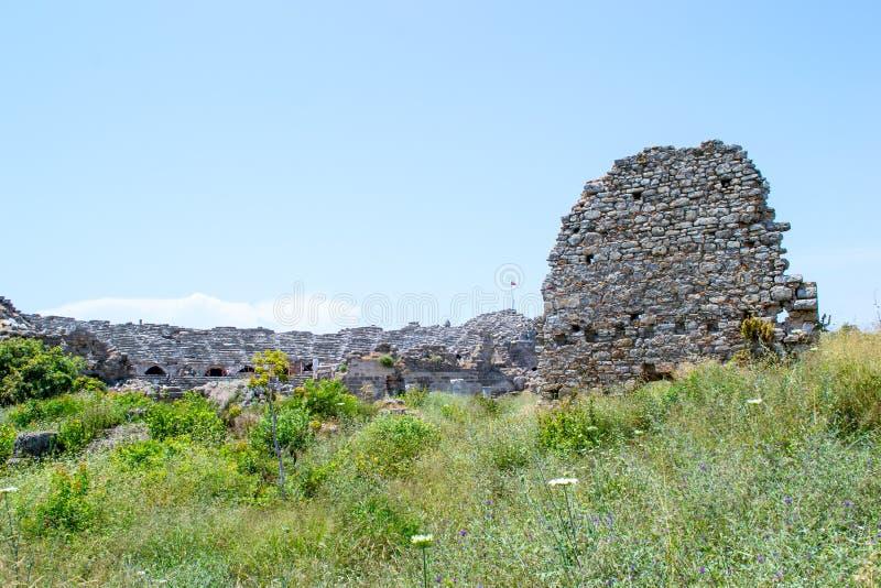 Antik amphitheater kalkon Sidostad royaltyfri bild