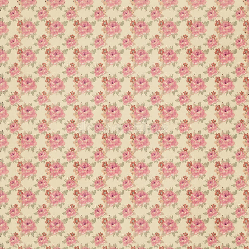 Antik blom- tapet royaltyfri foto