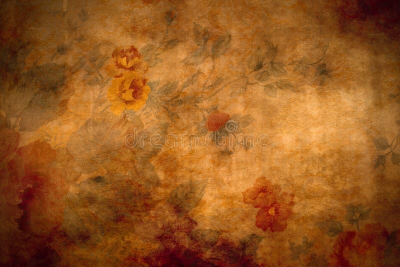 antik blom- textur arkivbild