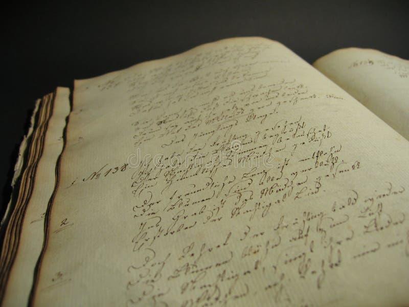 antik bok ii royaltyfria foton