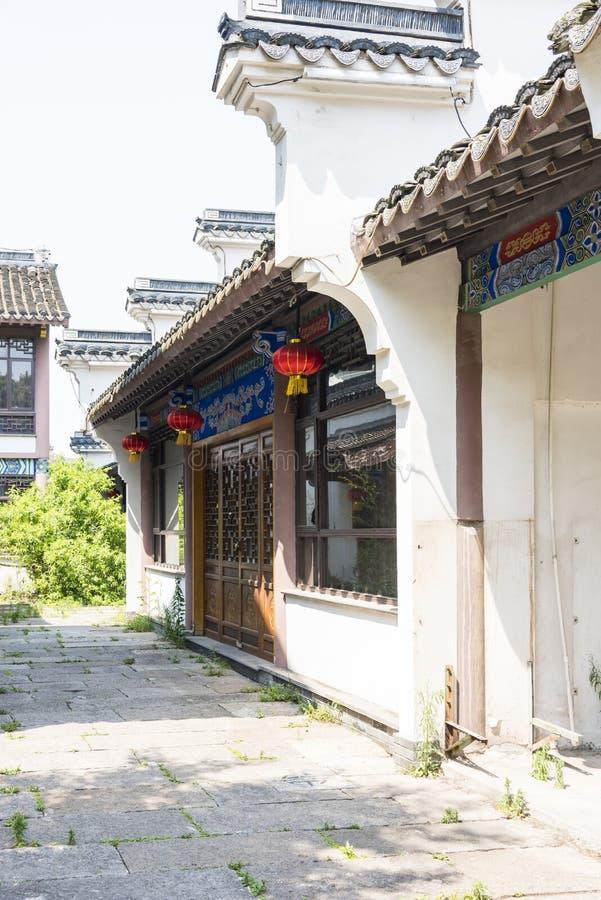 antik byggnad längs den Qinghuai floden arkivbild