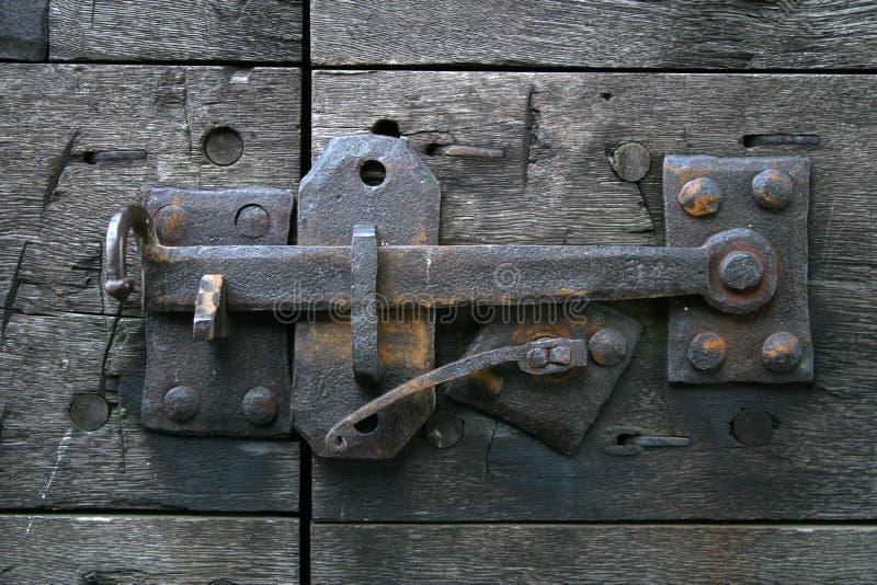 Antik Dörrlatch Arkivfoto
