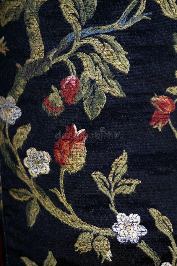 Antik deatil för dekor för tygblommamodell arkivbild