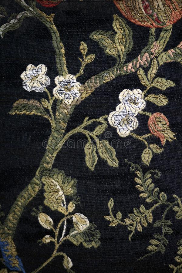 Antik deatil för dekor för tygblommamodell arkivbilder
