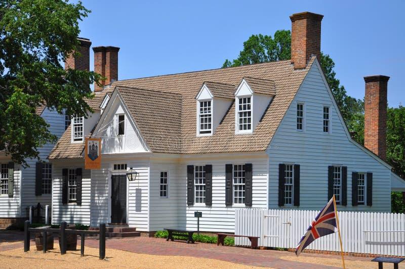 Antik Edinburgslott i Williamsburg, VA, USA royaltyfri fotografi