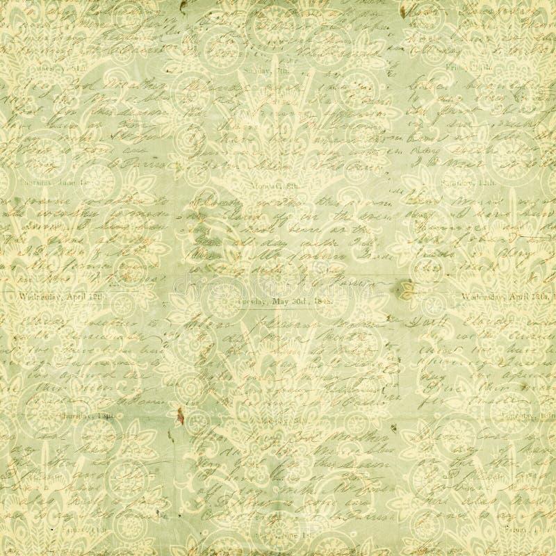 Antik Grungy tappningblommabakgrund arkivbilder