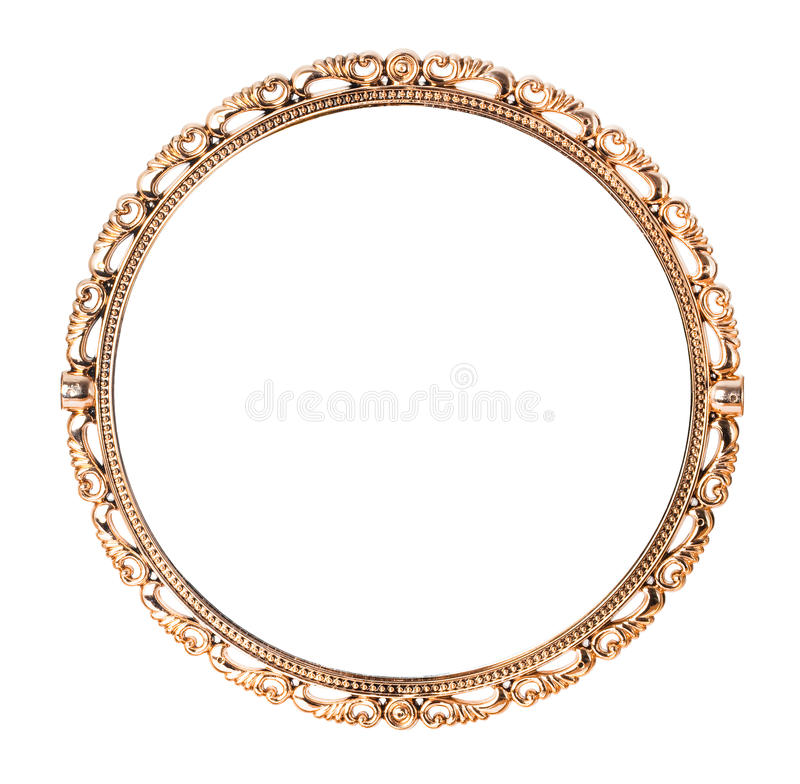 antik guld- spegel arkivfoton