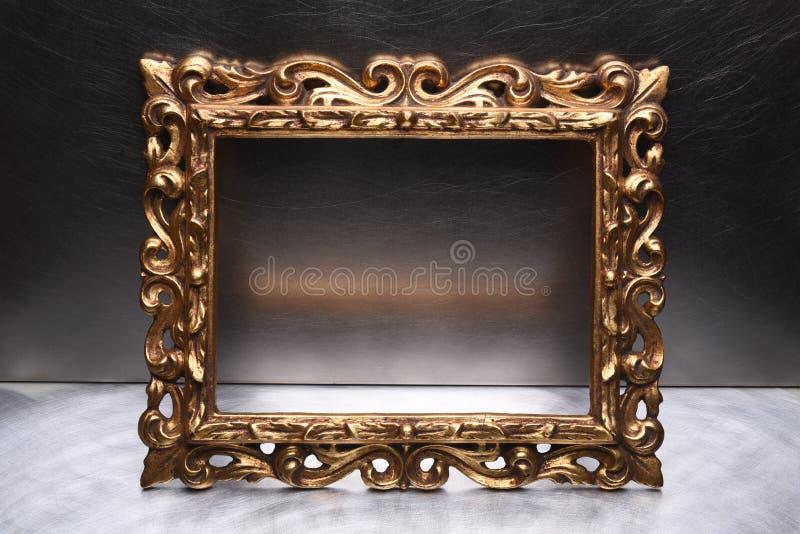 Antik guld- träram fotografering för bildbyråer