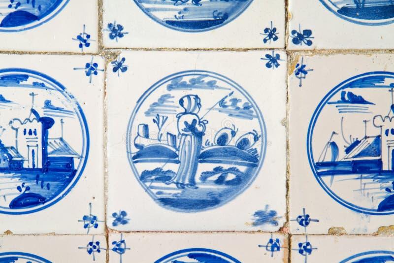 Antik holländsk tegelplatta arkivfoton