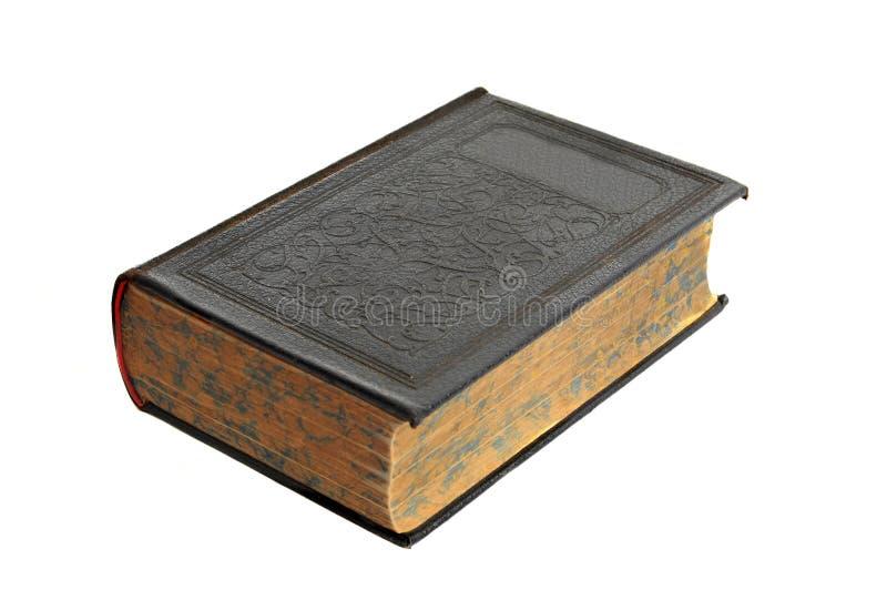 antik isolerad bokhardcover royaltyfri foto