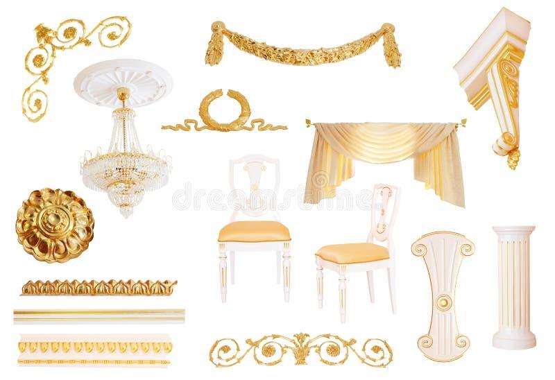 antik isolerad white för detaljer interior arkivfoton