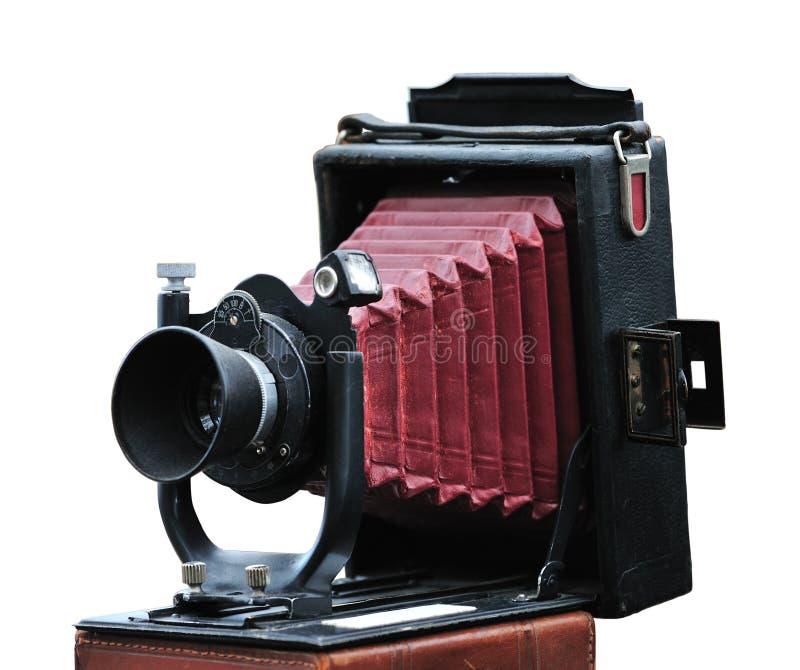 antik kamerafolding arkivbild
