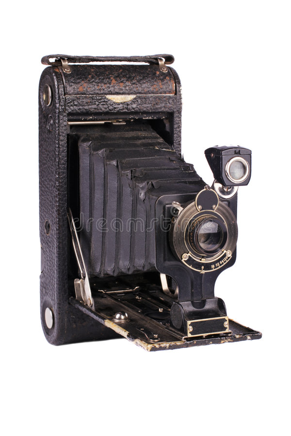 antik kamerafolding royaltyfri bild